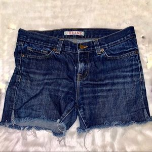 [J Brand] Blue Low Rise Cutoff Shorts - Size 27